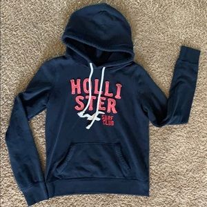 Ladies dark blue Hollister hoodie.